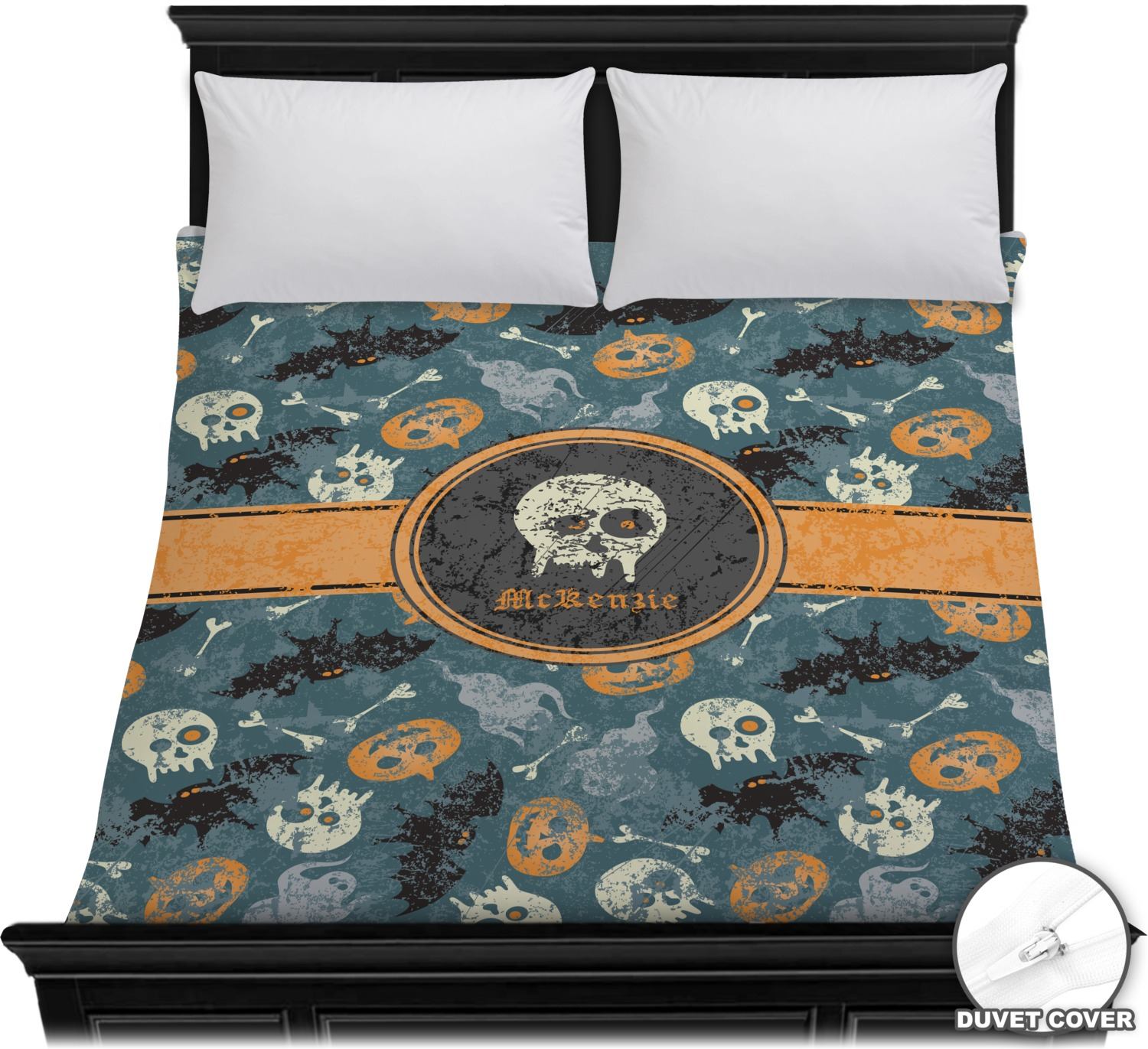 vintage grunge halloween duvet cover personalized
