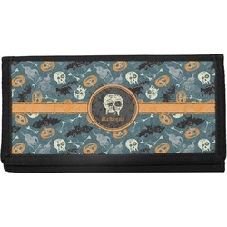 Vintage / Grunge Halloween Canvas Checkbook Cover (Personalized)