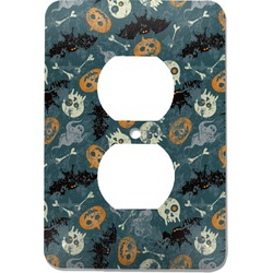 Vintage / Grunge Halloween Electric Outlet Plate (Personalized)