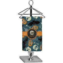 Vintage / Grunge Halloween Finger Tip Towel - Full Print (Personalized)
