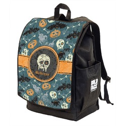 Vintage / Grunge Halloween Backpack w/ Front Flap  (Personalized)