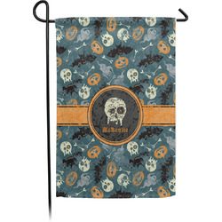 Vintage / Grunge Halloween Garden Flag - Single or Double Sided (Personalized)