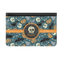 Vintage / Grunge Halloween Genuine Leather ID & Card Wallet - Slim Style (Personalized)