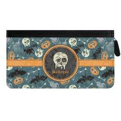 Vintage / Grunge Halloween Genuine Leather Ladies Zippered Wallet (Personalized)