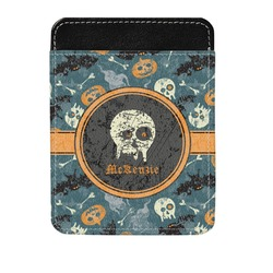 Vintage / Grunge Halloween Genuine Leather Money Clip (Personalized)