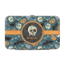 Vintage / Grunge Halloween Genuine Leather Small Framed Wallet (Personalized)