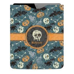 Vintage / Grunge Halloween Genuine Leather iPad Sleeve (Personalized)