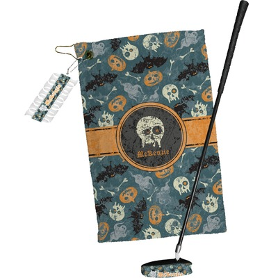 Vintage / Grunge Halloween Golf Towel Gift Set (Personalized)