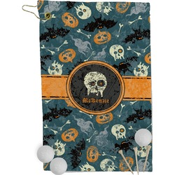 Vintage / Grunge Halloween Golf Towel - Full Print (Personalized)