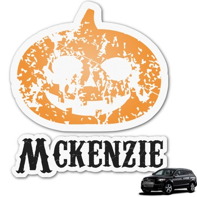 Vintage / Grunge Halloween Graphic Car Decal (Personalized)