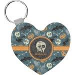 Vintage / Grunge Halloween Heart Keychain (Personalized)