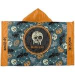 Vintage / Grunge Halloween Kids Hooded Towel (Personalized)