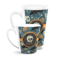 Vintage / Grunge Halloween Latte Mug (Personalized)