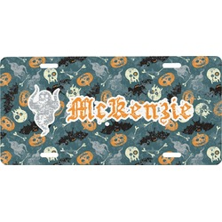 Vintage / Grunge Halloween Front License Plate (Personalized)
