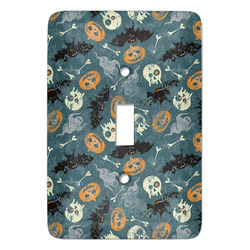 Vintage / Grunge Halloween Light Switch Cover (Single Toggle) (Personalized)
