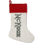 Vintage / Grunge Halloween Red Linen Stocking (Personalized)