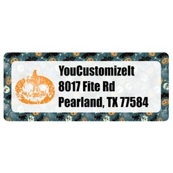 Vintage / Grunge Halloween Return Address Labels (Personalized)