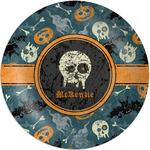 Vintage / Grunge Halloween Melamine Plate (Personalized)
