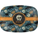 Vintage / Grunge Halloween Melamine Platter (Personalized)