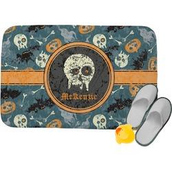 Vintage / Grunge Halloween Memory Foam Bath Mat (Personalized)