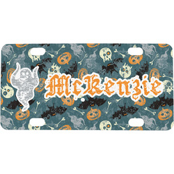 Vintage / Grunge Halloween Mini / Bicycle License Plate (Personalized)