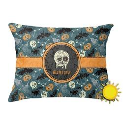 Vintage / Grunge Halloween Outdoor Throw Pillow (Rectangular) (Personalized)