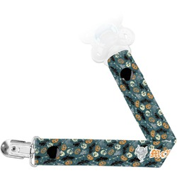 Vintage / Grunge Halloween Pacifier Clips (Personalized)