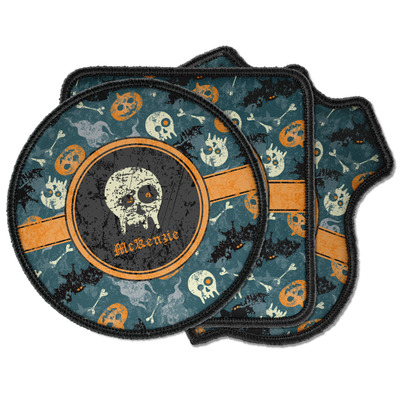 Vintage / Grunge Halloween Iron on Patches (Personalized)