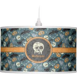 Vintage / Grunge Halloween Drum Pendant Lamp (Personalized)