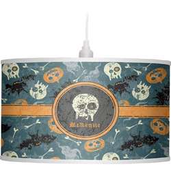 Vintage / Grunge Halloween Drum Pendant Lamp (Personalized)