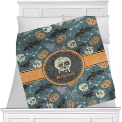 Vintage / Grunge Halloween Blanket (Personalized)