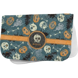 Vintage / Grunge Halloween Burp Cloth (Personalized)