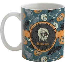 Vintage / Grunge Halloween Coffee Mug (Personalized)