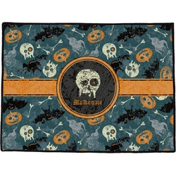 Vintage / Grunge Halloween Door Mat (Personalized)