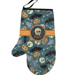 Vintage / Grunge Halloween Left Oven Mitt (Personalized)