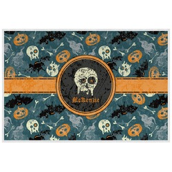 Vintage / Grunge Halloween Placemat (Laminated) (Personalized)