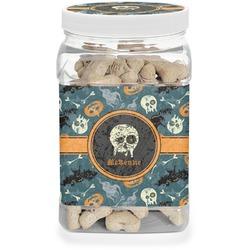 Vintage / Grunge Halloween Pet Treat Jar (Personalized)