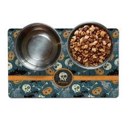 Vintage / Grunge Halloween Dog Food Mat (Personalized)