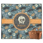 Vintage / Grunge Halloween Outdoor Picnic Blanket (Personalized)
