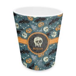 Vintage / Grunge Halloween Plastic Tumbler 6oz (Personalized)