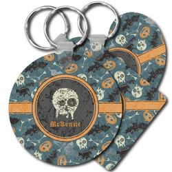 Vintage / Grunge Halloween Plastic Keychains (Personalized)
