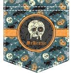 Vintage / Grunge Halloween Iron On Faux Pocket (Personalized)