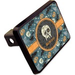 """Vintage / Grunge Halloween Rectangular Trailer Hitch Cover - 2"""" (Personalized)"""