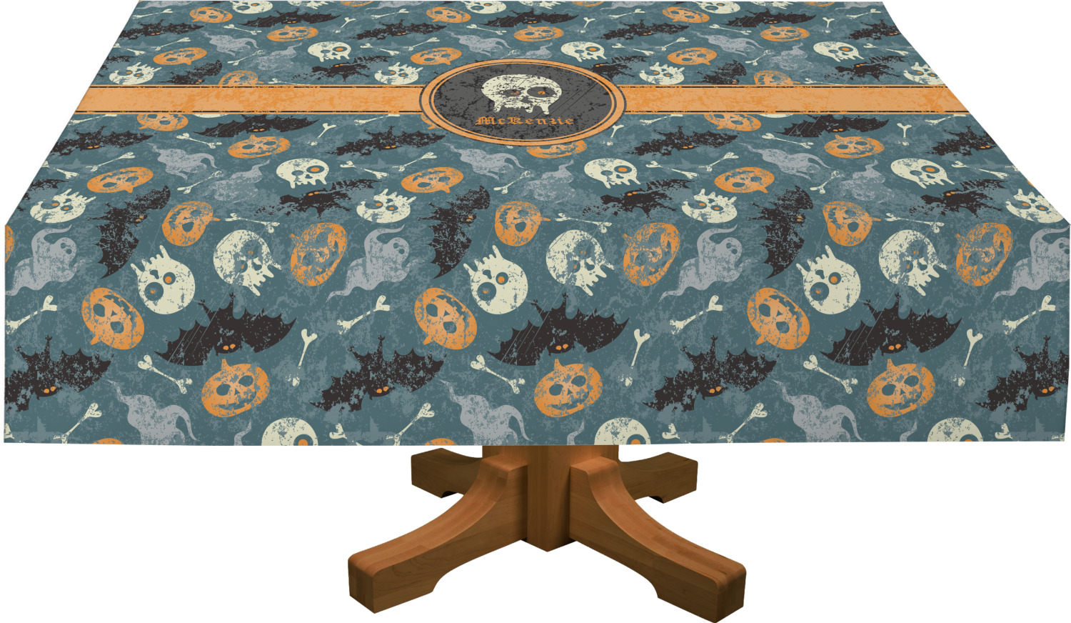 Vintage / Grunge Halloween Tablecloth (Personalized)