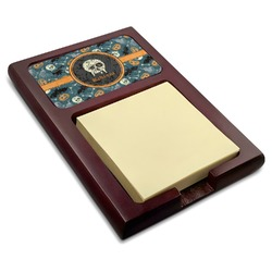 Vintage / Grunge Halloween Red Mahogany Sticky Note Holder (Personalized)