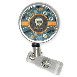 Vintage / Grunge Halloween Retractable Badge Reel (Personalized)