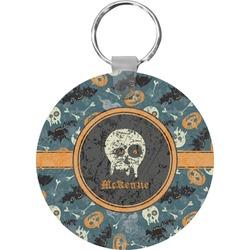 Vintage / Grunge Halloween Round Keychain (Personalized)