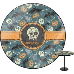 Vintage / Grunge Halloween Round Table (Personalized)