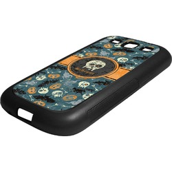 Vintage / Grunge Halloween Rubber Samsung Galaxy 3 Phone Case (Personalized)