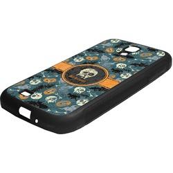 Vintage / Grunge Halloween Rubber Samsung Galaxy 4 Phone Case (Personalized)